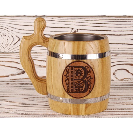 Beer mug with custom monogramed
