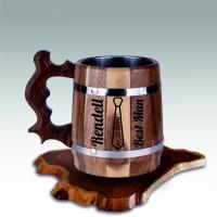 Mug of Beer Nut Wood