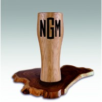 Personalized Wooden Glass