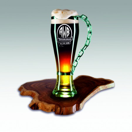 Personalized Engraved Beer Glass