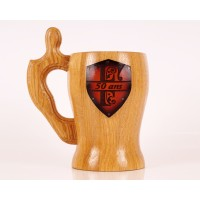Personalized wooden Mug Monogrammed