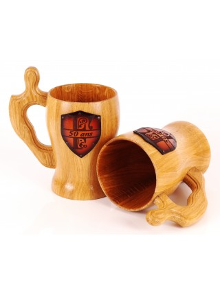 Personalized wooden Mug Monogrammed