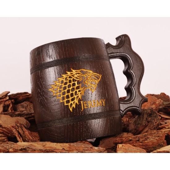 Personalized wooden Beer Mug Groomsmen proposal